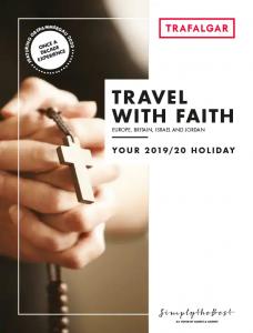 Trafalgar Travel With Faith 2019